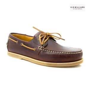 R M Williams Barham Tan Boat Shoe