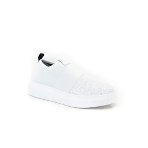 Fessura Edge Clean White Sequin Sneaker