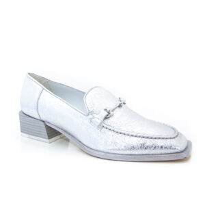 Beau Coops Roxbury Cookie Silver loafer