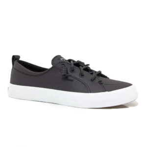 Sperry Crest Vibe Leather Black 84548 womens boat shoe