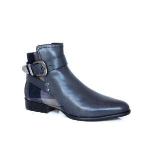 Donna Carolina Toni Navy Tartan 40.743.003 Boots