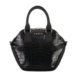 Saben Liv Black Croc Handbag