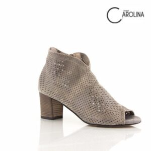 Donna Carolina Aida Cocco Metal Womens Heel Sandal