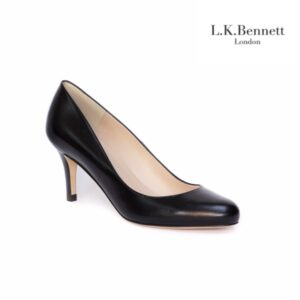 L.K.Bennett Samira Black Womens Heels Kid Leather
