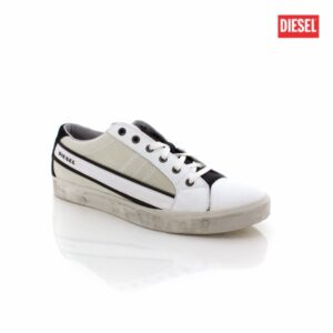 Diesel D-String Low White Black Mens Sneakers