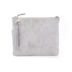 Vash Jem Grey Hide Clutch