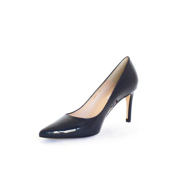 L.K.Bennett Floret Navy Patent Womens Heels