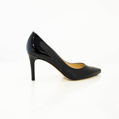 L.K.Bennett Floret Black Patent Womens Heels